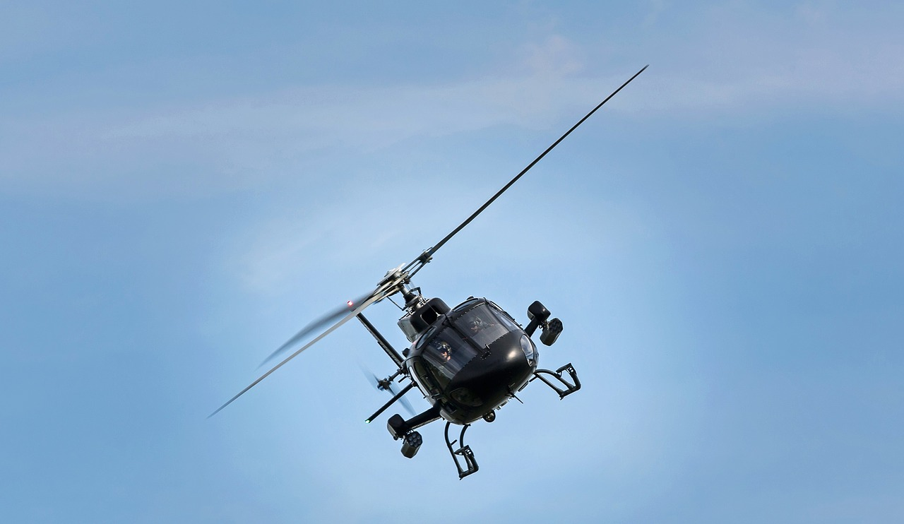How does helicopter tilt?